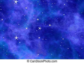 nubi, spazio, cielo, sfondi, stelle, piccolo