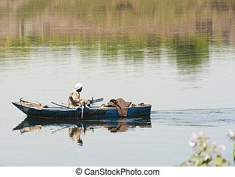 Nubian fisherman on River Nile