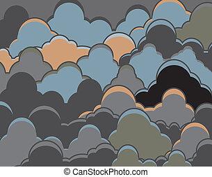 nublado, fundo