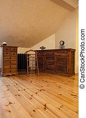 nublado, hogar, -, pasado de moda, muebles