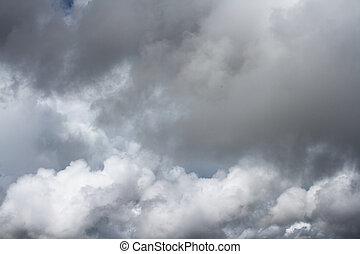 nublado, nuvens
