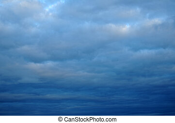 nublado, nuvens, thunderstorm