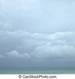 nublado, océano