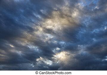 nublado, sky.
