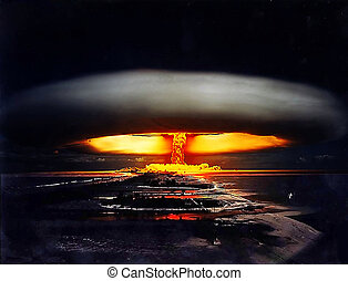 nucléaire, coup, nuit