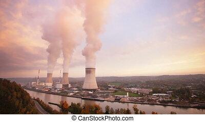 nucléaire, défaillance, station, puissance, temps