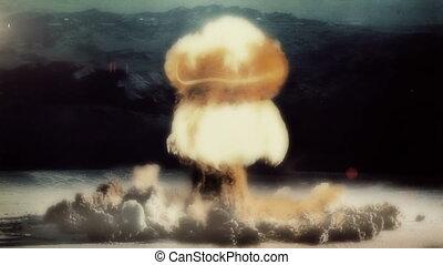 nucléaire, entiers, détonation