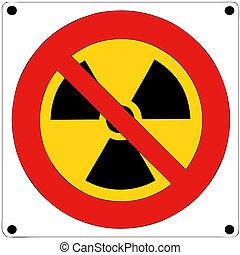 nucléaire, radiation, prohibition
