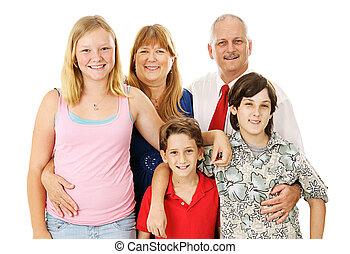 nucléaire, stockage, photo famille