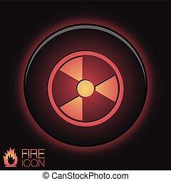 nucléaire, symbole, danger