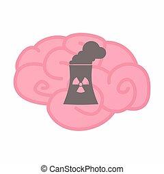 nucleair, station, vrijstaand, macht, hersenen