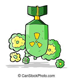 nucleaire bom, spotprent