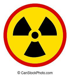 nuclear, blanco, no, señal