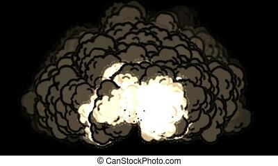 Nuclear Blast.  VFX element created