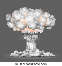 Nuclear bomb explosion