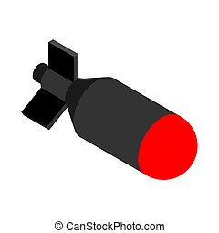 Nuclear Bomb isolated. Torpedo bombshell. vector...