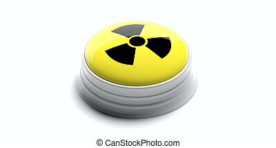Nuclear button isolated on white background. 3d illustration