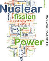 nuclear, concepto, potencia, plano de fondo
