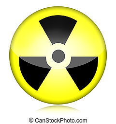 Radioactive nuclear danger symbol isolated on white background