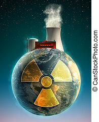 Nuclear Earth - Big nuclear power plant on top of the Earth....