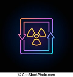 Nuclear energy concept colorful icon