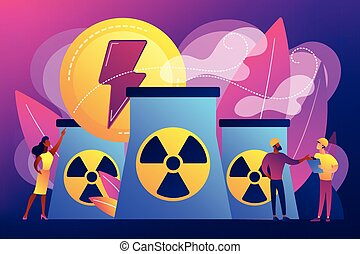 Nuclear energy concept vector illustration.