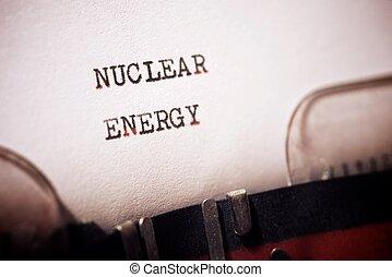 Nuclear energy text