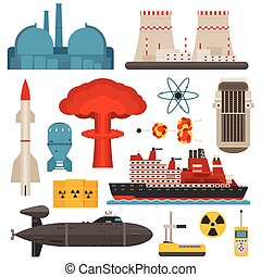 Nuclear energy vector illustration
