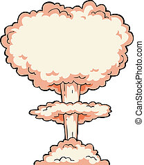 Nuclear explosion on a white background vector illustration