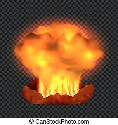 Nuclear explosion concept background, realistic style