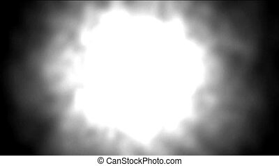 Nuclear explosion, Dazzling white aura light