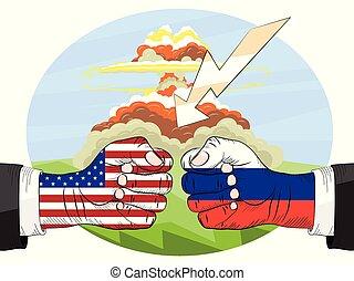 Nuclear explosion. Russia vs America