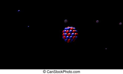 Nuclear Fission Closeup. CG. hd - Closeup of a nuclear...