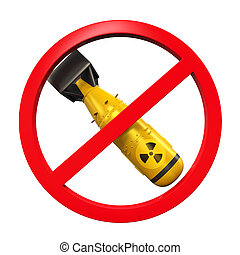 Nuclear Forbidden Sign