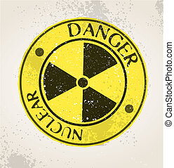 nuclear, grunge, sinal