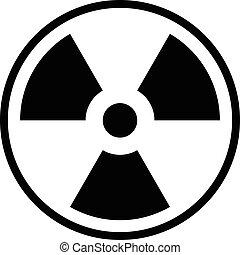 Nuclear Icon Vector.