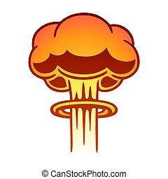 nuclear, nuvem cogumelo
