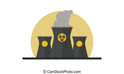 Nuclear plant pollution HD animation - Nuclear plant making...