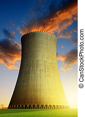 nuclear, planta, potencia