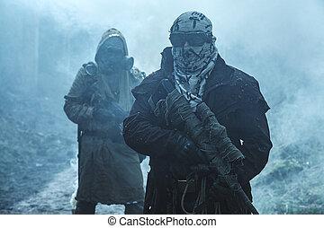 Nuclear post-apocalypse survivors - Nuclear post-apocalypse....