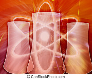 Nuclear power Abstract concept digital illustration