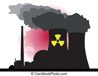 Nuclear Power - An abstract vector illustration of a nuclear...