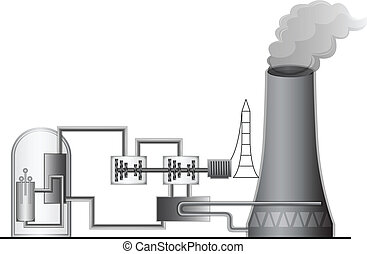 Nuclear Power Plant - Illustration of the Nuclear Power...