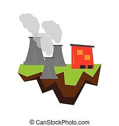 Nuclear power plant. Energy conceptual image