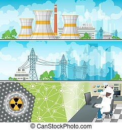 Nuclear Power Plant Horizontal Banners