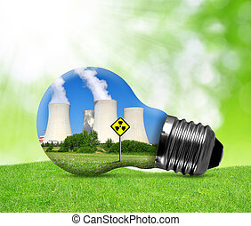 Nuclear power plant in bulb.