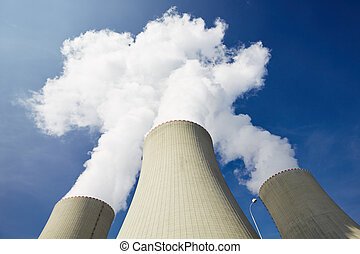 Nuclear power plant - Cooling towers of the nuclear power...