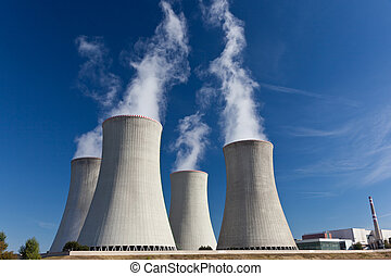 Nuclear power plant - Cooling tower of nuclear power plant...