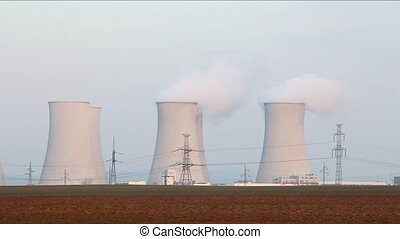 Nuclear power plant - time lapse