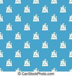 Nuclear power plant tower pattern vector seamless blue